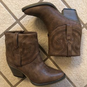 MIA Cowboy booties from DSW